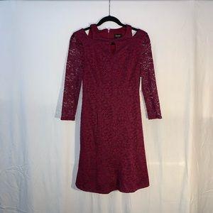 NWT    Laundry Maroon Dress